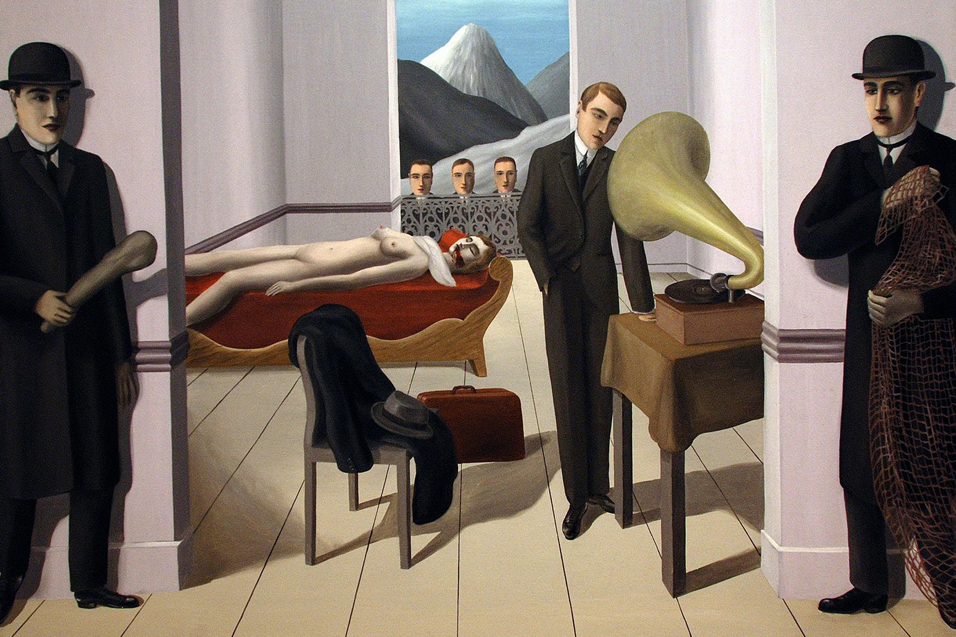 L'Assassin menacé by René Magritte, 1927. Museum of Modern Art, New York.